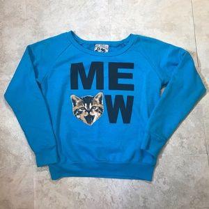 Riot Society Meow Sweatshirt Size S